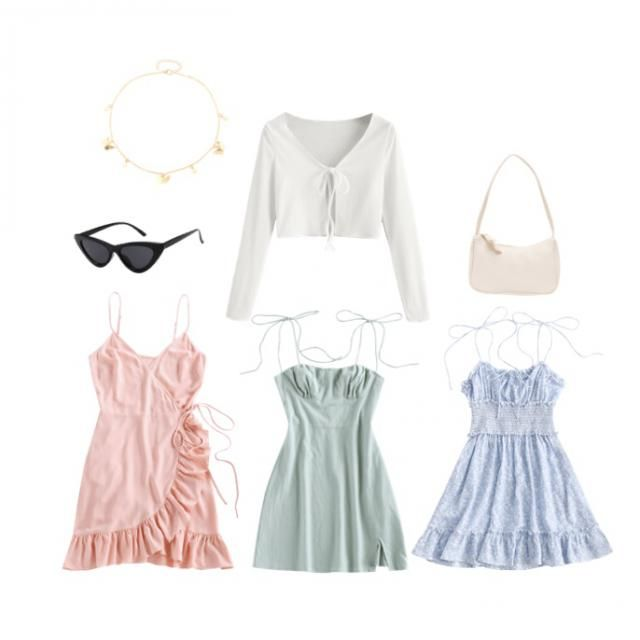 1 cardigan, 3 dresses