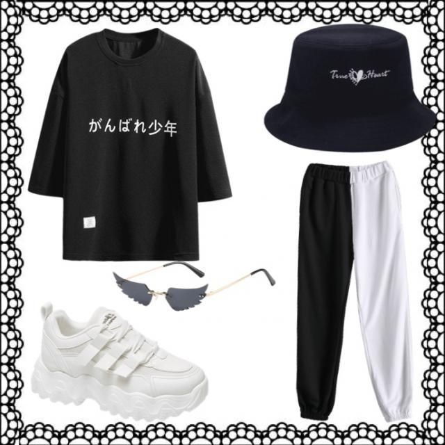 Outfit blanco y negro para hombres  Outfit white and black for men