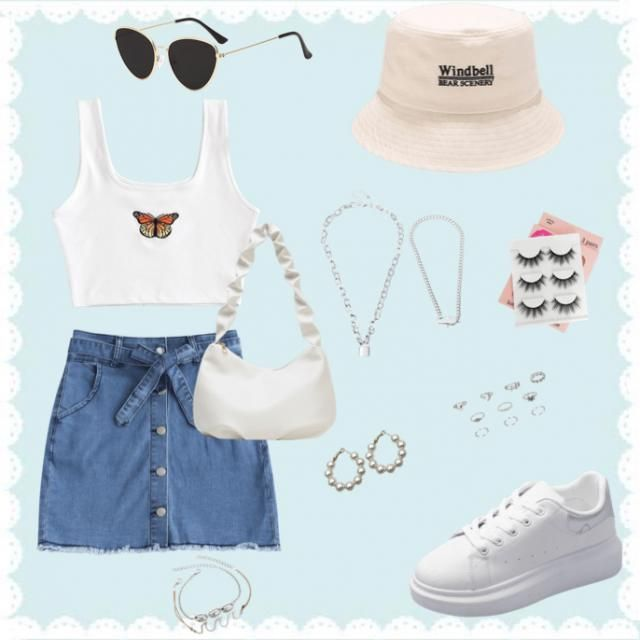A super cute outfit for a summer day!