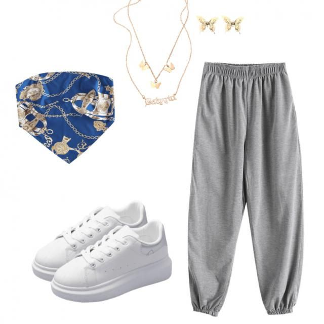 Here's a cute but simple outfit for the summer!(it also looks comfy:)