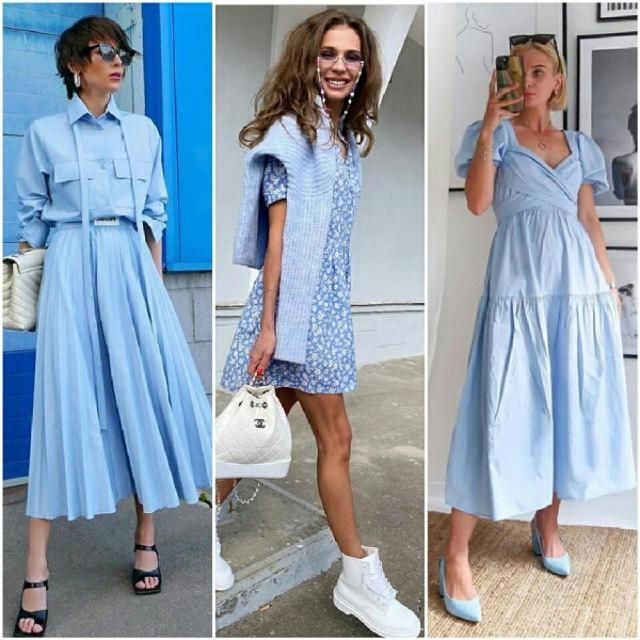 keep it simple and chic with blue dresses