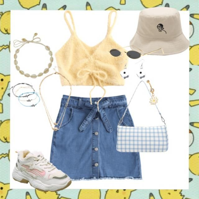 💫a summery pastel casual outfit for the boardwalk or lake💫