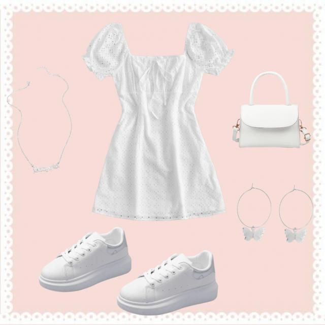 White outfit!