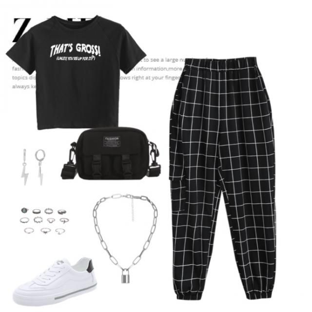 ⚡️a black and white classic fit made by my cousin⚡️ check out my page and follow for more!! 💫          …