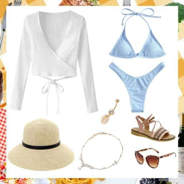 a cute beach outfit. I personally can&;t wear loud outfits so I enjoy wearing elegant, cute outfits in vintage or paste…