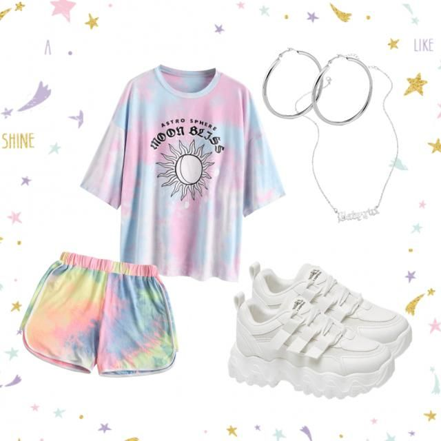 Tie-dye outfit.  Do you think they should make tiedye shoes?