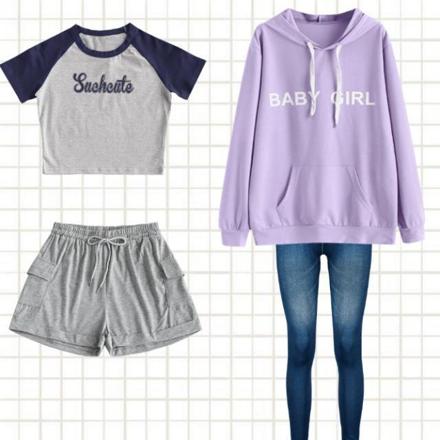 do lado esquerdo uma roupa para dias de sol e verão, já na direita um look para dias frios ou quando for sair a noite e…