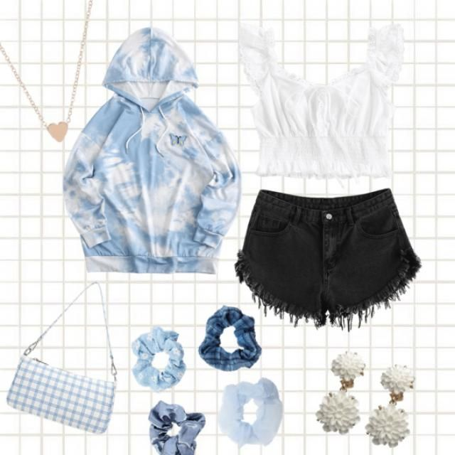 Blue chic and comfy outfit.