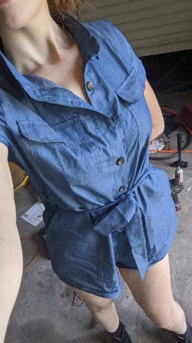 This pho denim romper is so comfortable and so light, and yet surprisingly super sturdy as far as the material goes. …