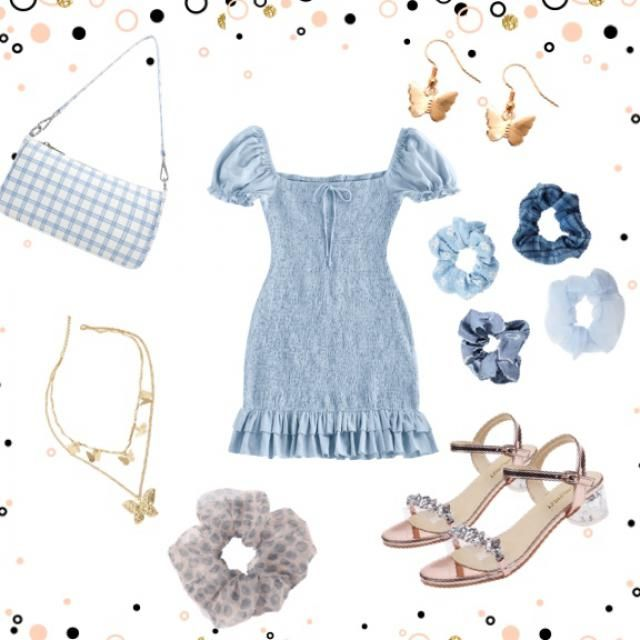 Cute blue outfit!