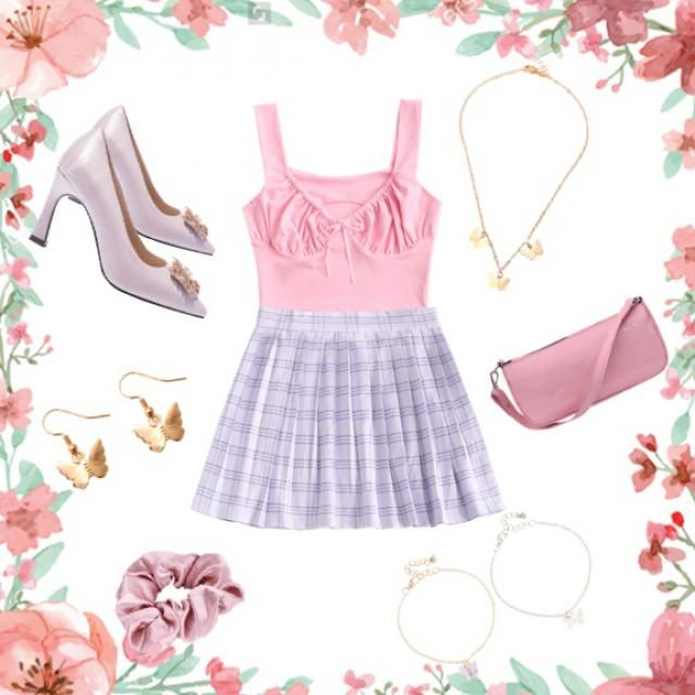 Cute pink and purple outfit!