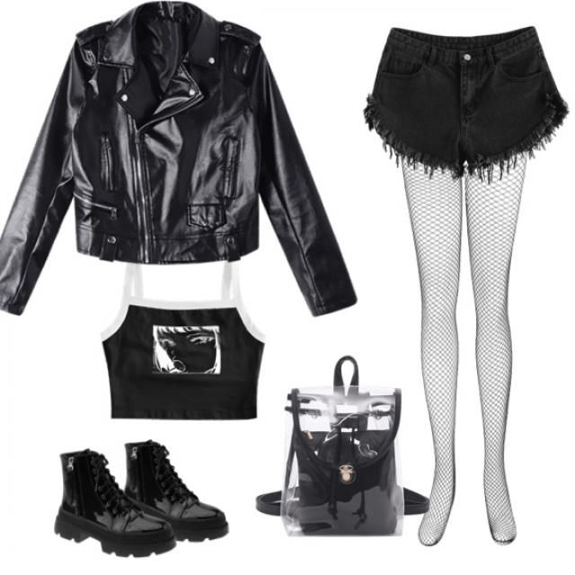 This outfit is soooo unorganized in presentation , because of the fishnets . However , on this outfit …