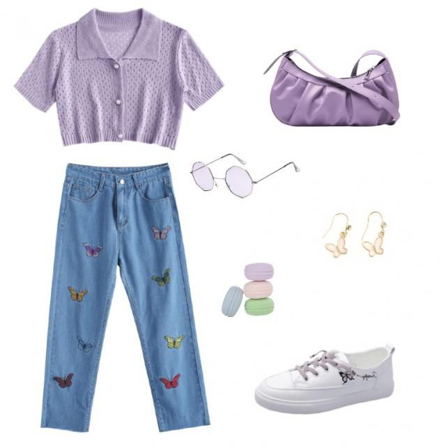 This outfit is dedicated to a Sagittarius. I decided to make the outfit purple because that's the color that describes …