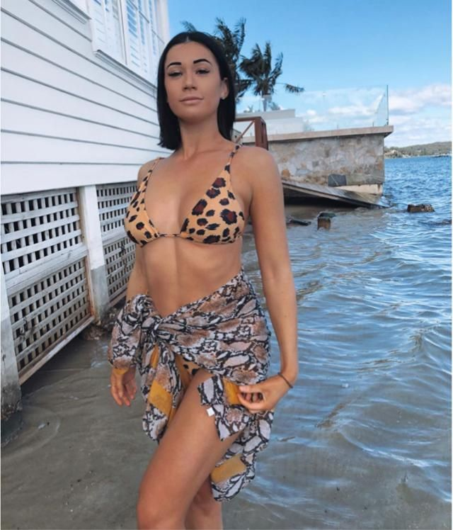 Literally can combine this leopard print bikini with snake print cover