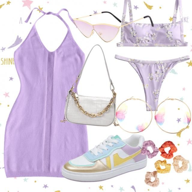 leo purple date look