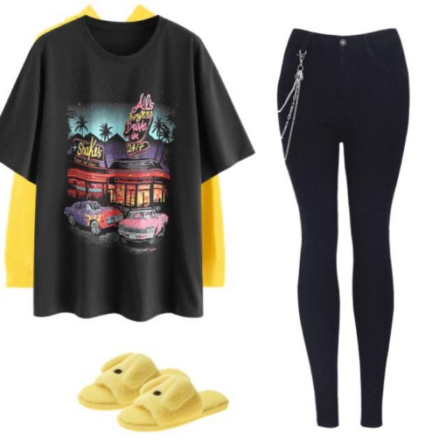 Personally I think this outfit would look pretty filthy on , but you can't really see how everythin…