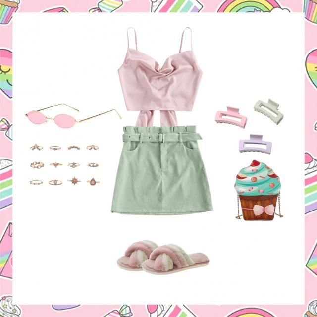 Fulfill your VSCO-girl-dream with this bubblegum outfit, spiced with pastel shades and your favourite accessouries. Who…