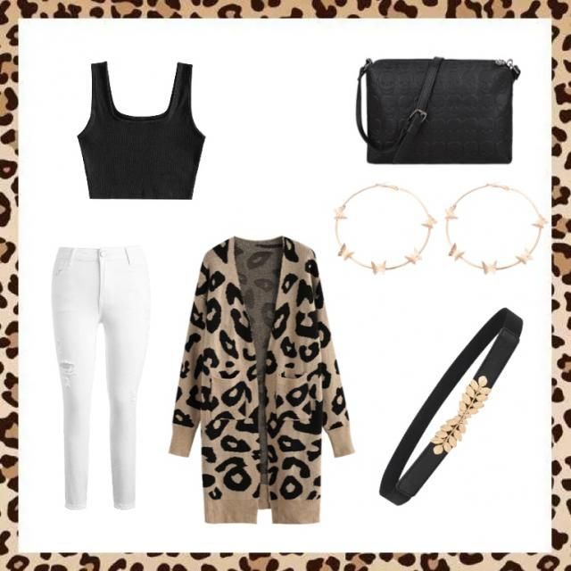 Pair this outfit with black sandals or wedges 🐆 The sleeves can be rolled up for a more casual look! …