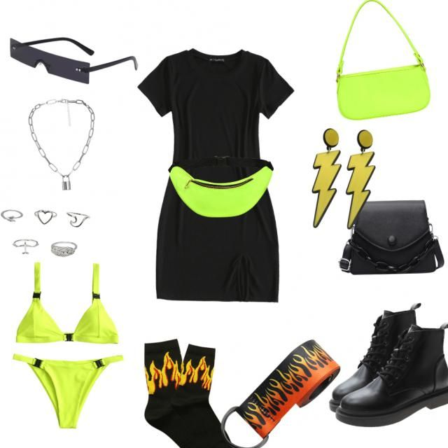 Neon and black moment 💛🖤