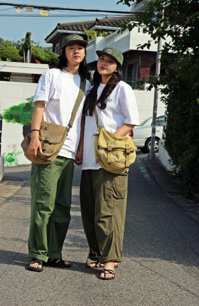 Cargopants couple look  insta: bb_stg