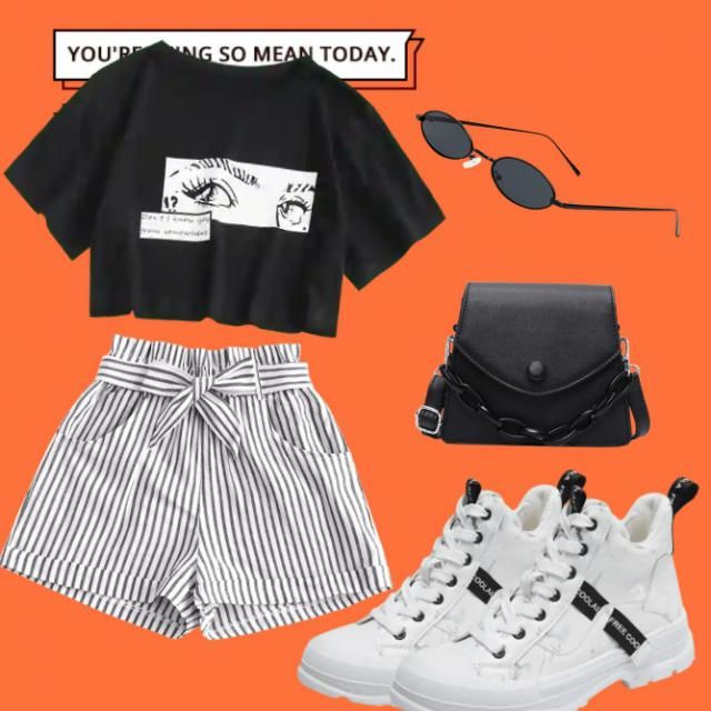 super cute outfit when going out 🧡🖤