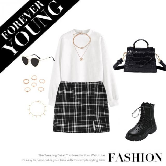 This combination gives you a fancy and cute look to go out to a meeting with friends or colleages of the office. The j…