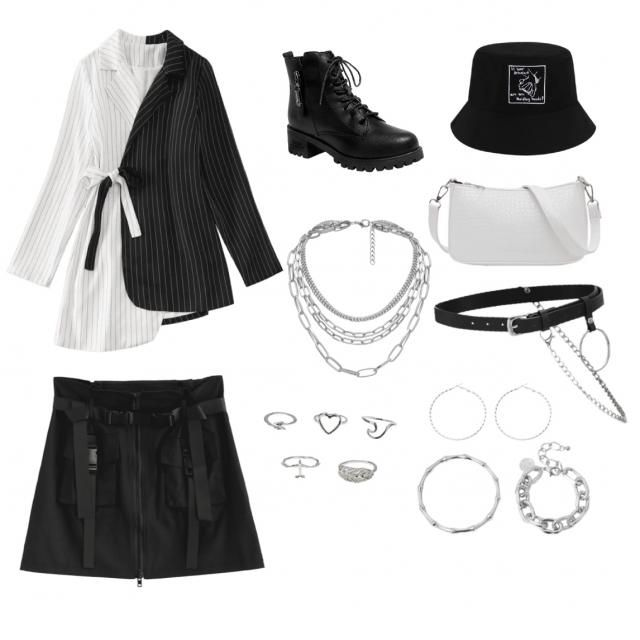 Travel black and white outfit