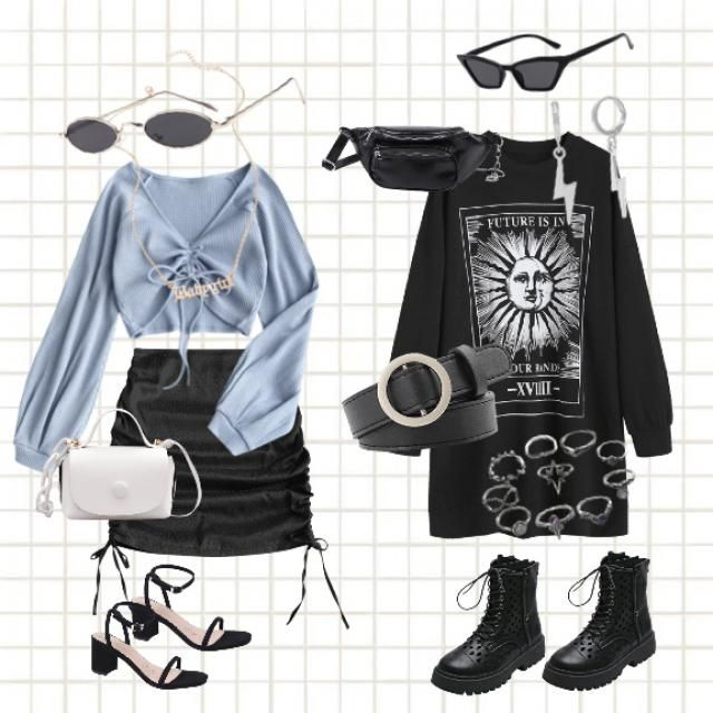 Soft and dark/gothic look for anybody who has different style preference;)    Outfit:   LIBRA  