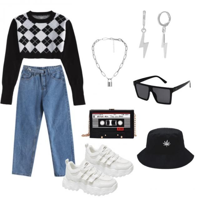 Just created girly aesthetic outfit idea