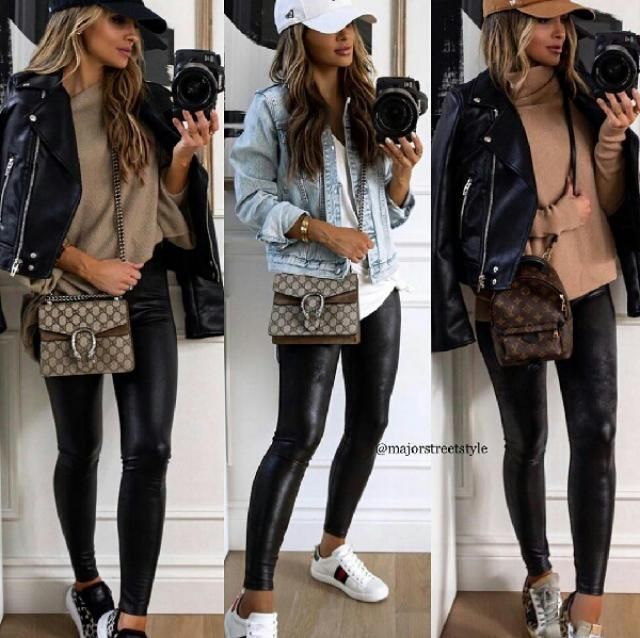 3 casual ways to style leather leggings which one is your favorite?