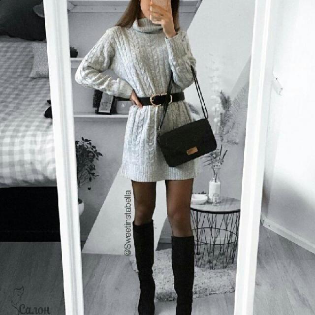 I love sweater dresses they look elegant