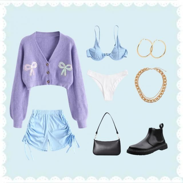 Outfit for a pisces. You can replace the boots with black sneakers.