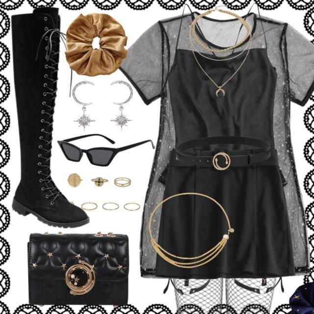 ◾🌙ZODIAC GIRL🌙◾ ✨♠️CAPRICORN♠️✨ I LOVE the black and gold look <3  ✨⚫✨⚫✨⚫✨      …