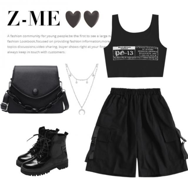 Another dark and rebellious Aquarius outfit