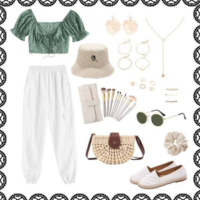 Virgo zodiac outfit: Light and earthy. Can be dressed up with gold jewelry and off-white accessories. Woven bag and …