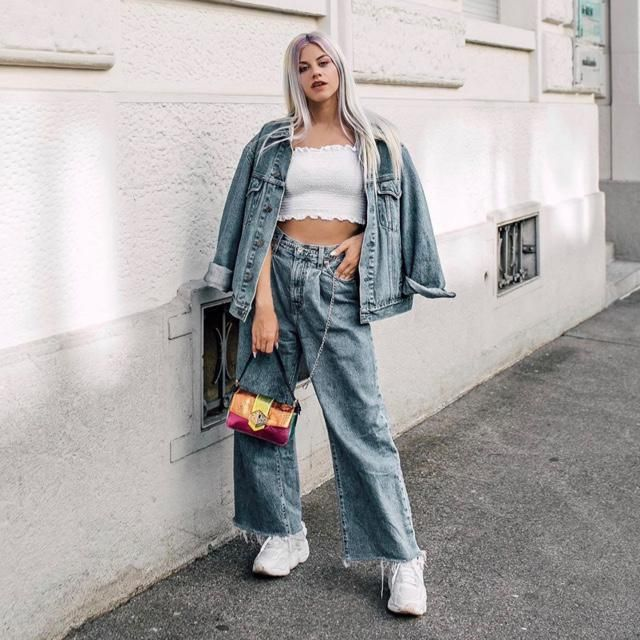 Yes tube top is good with denim jacket and baggy jeans