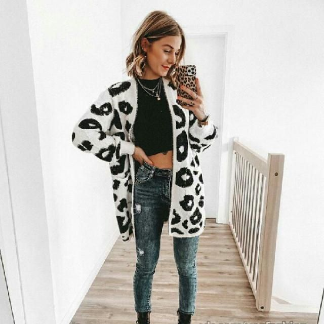 you can get this gorgeous leopard print open front cardigan from Zaful