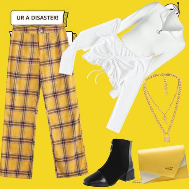 We love yellow! I actually really love this outfit, it&;s super simple but nice. Should I have put a jacke…