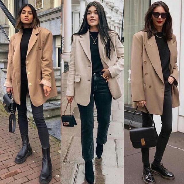 3 classy ways to style khaki blazer