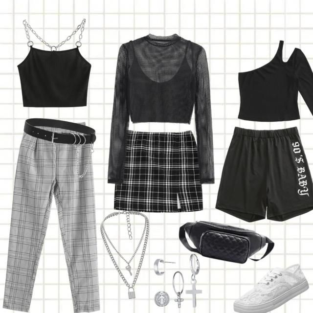 grey and black outfits!
