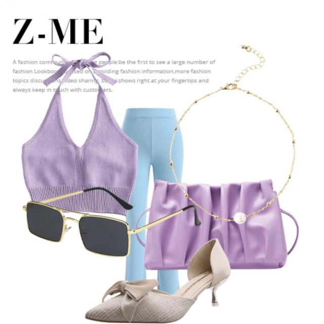 A cool lavender look for a causal lounge with friends♡ Really pretty and girly( ◜‿◝ )