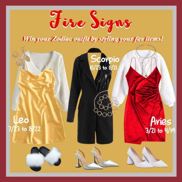 【 WIN Zodiac Outfit For FREE!】 Win your Zodiac outfit by styling your fav items!  HOW: 1. Pick a sign here: Aries丨Leo丨S…