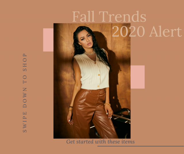 【Fall Trends  2020 Alert: Caramel +Sweater Vest Combo】 Check this lookbook, comment below your fave one and tell us why…
