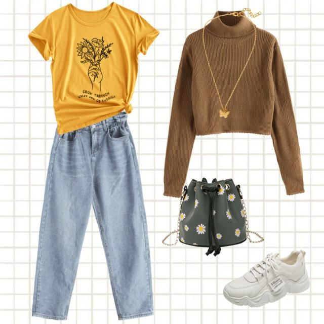 Hufflepuff outfit! With flowers, warm tones and cosy clothes 🤗🌻