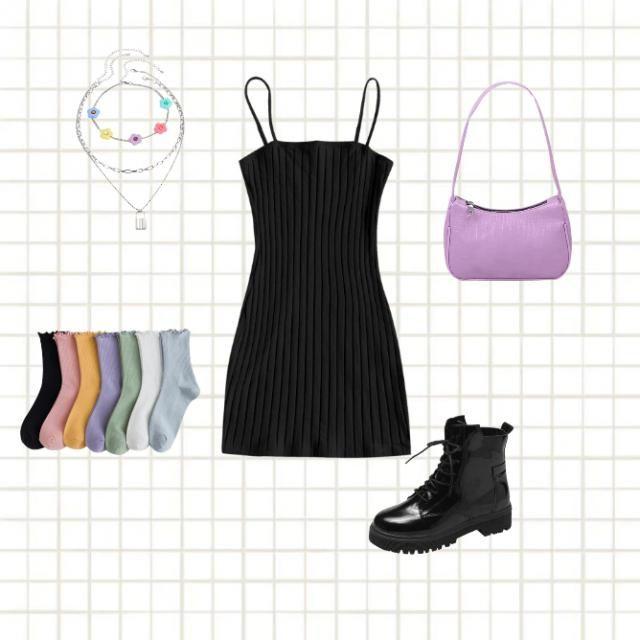 a nice way to wear a basic black dress