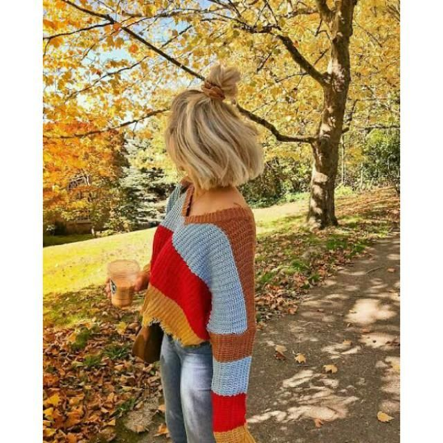 I love this beautiful colorblock sweater