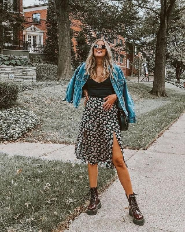 A denim jacket and dearest midi skirt from the closet paired together are a total eye candy for gals who prefer a…