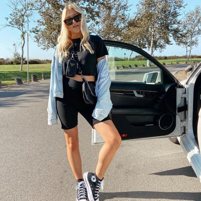 Yes! It's always trendy to wear biker shorts anywhere