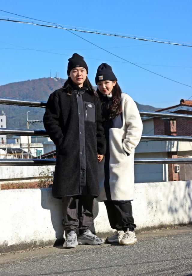 Korea couple winterstyle  instagram ☞ bb_stg