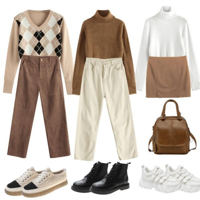 Neutral-Toned Monochromatic Outfit 🍂🤎